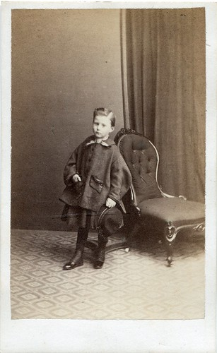 Portrait of a young boy by C. J. Wright (early 1860s)