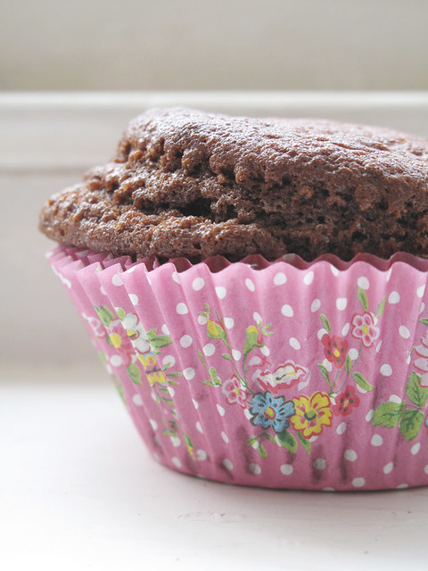 Muffin cacao e fragole