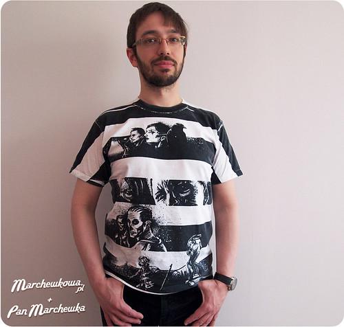 Pan Marchewka, koszulki, T-shirt, komiks, pasy, black&white