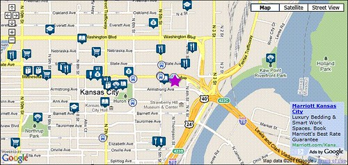amenities near current EPA Reg 7 HQ (via Walk Score)