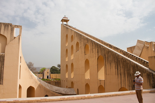 Giant Sundial at Jantar Mantar in Jaipur