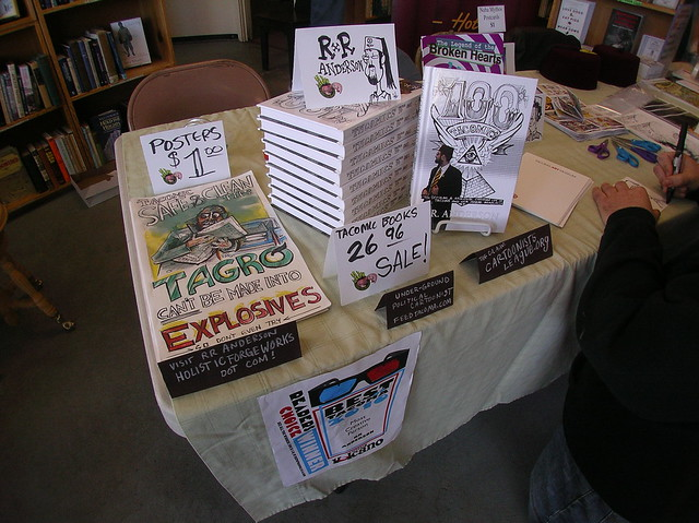 RR Anderson's TACOMIC BOOK display at Kings Books