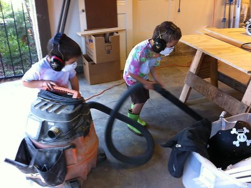 Ezra vacuums