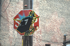 We are under surveillance (GXM.) Tags: street camera blue urban chicago pasteup design melon streetphotos chicagoist gxm 2011 chicagostreetphotography