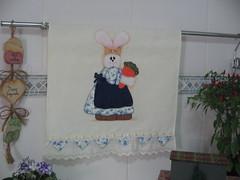 Meu cenrio lindo (arteira2009) Tags: pscoa coelho pintura aplicao cenoura coelhinha patchcolagem panodeprato panodecopa apliqu