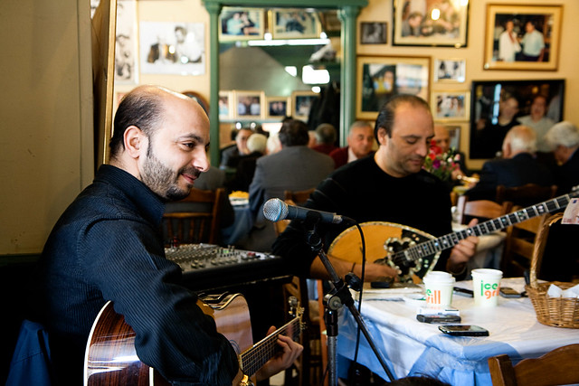 athens - food musicians