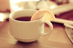 Crumpets please (John Wallflower) Tags: lemon smoothbokeh warmtea