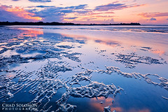 Nudgee (Chad Solomon) Tags: sunset seascape reflection art wet water pool clouds contrast canon reflections sand mud cloudy chad dusk patterns tide low australia qld 5d canon5d ripples lowtide colourful sands solomon lowangle reflecton wetsand iso50 shorncliffe queesnland chadsolomon canonef1635mmf28liiusm canoneos5dmarkii