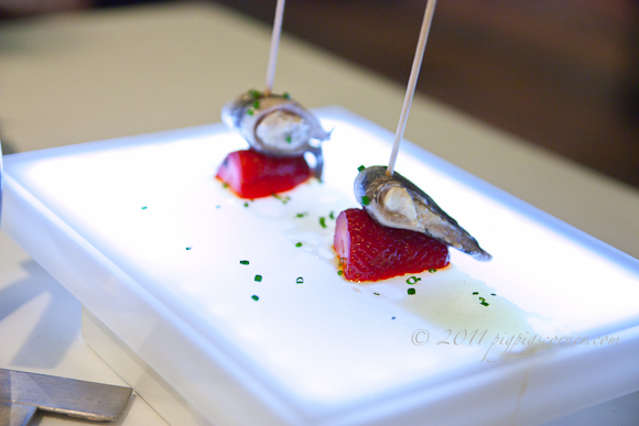 anchovy and strawberry, Arzak, San Sebastian