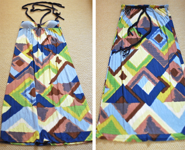 DIY Maxi Skirt from Maxi Dress skirt+dress