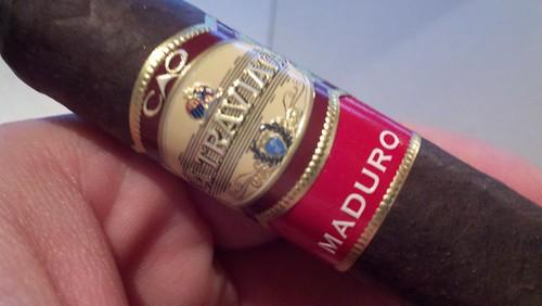 @caocigars La Traviata Maduro (Thanks @BuckheadCigar) + Coffee = A great start to the day.