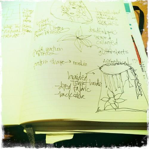 sketching ideas in my Moleskine calendar