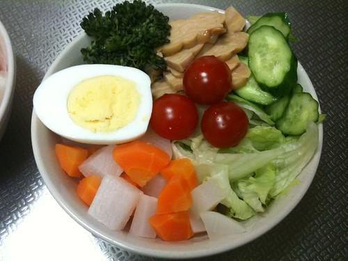 朝食サラダ(2011/4/27)
