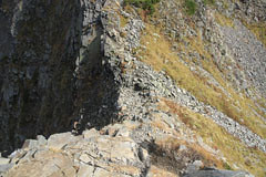 西穂-間ノ岳の岩場