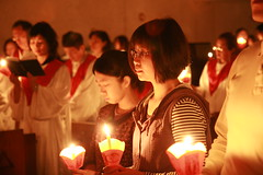 復活夜與新教友領洗