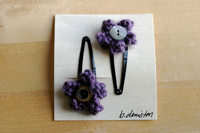 purple hair clips