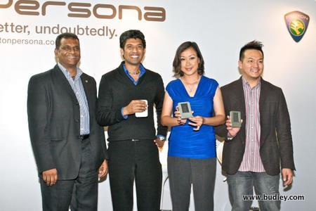 (L-R) Sidik Abdul Hamid, Gm, Marketing Division, Proton Edar Sdn Bhd, Aanantha, Dj Lin, Jack Lim