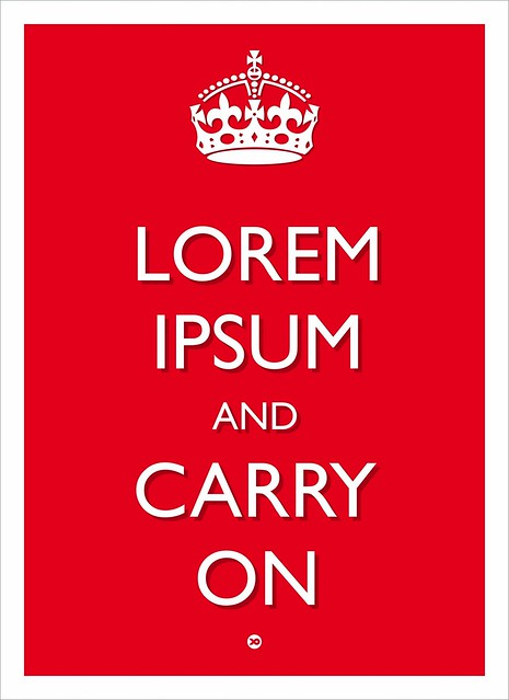 lorem ipsum and carry on
