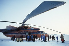 Soviet Helicopter (Weber Arctic Expeditions) Tags: ice richard misha weber northpole frostbite arcticocean polarexpedition malakhov wardhuntisland fischerskis polarbridge polartraining capearkticheskiy dimitrishparo shparo