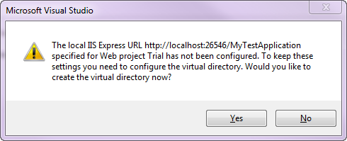 4 Not configuring a Virtual Directory