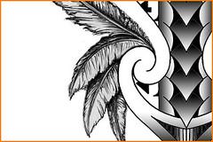 feathers-tattoo-tribal-design-arrows (Storm3d.com) Tags: art tattoo ink design artist flash drawings tribal designs maori sketches samoan polynesian tat2