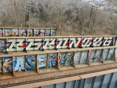 Rekonize NK (TheRekonizer) Tags: bridge minnesota graffiti minneapolis roller twincities yen blockbuster nk sarz asek rekonize