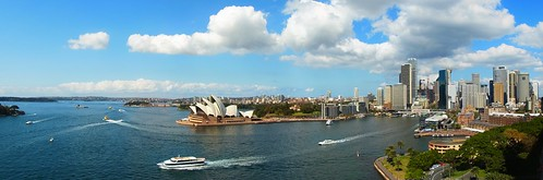Opera house and Circular Quay Pano