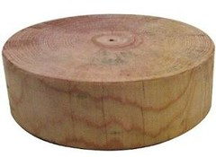 [photo-pine wood chopping block]