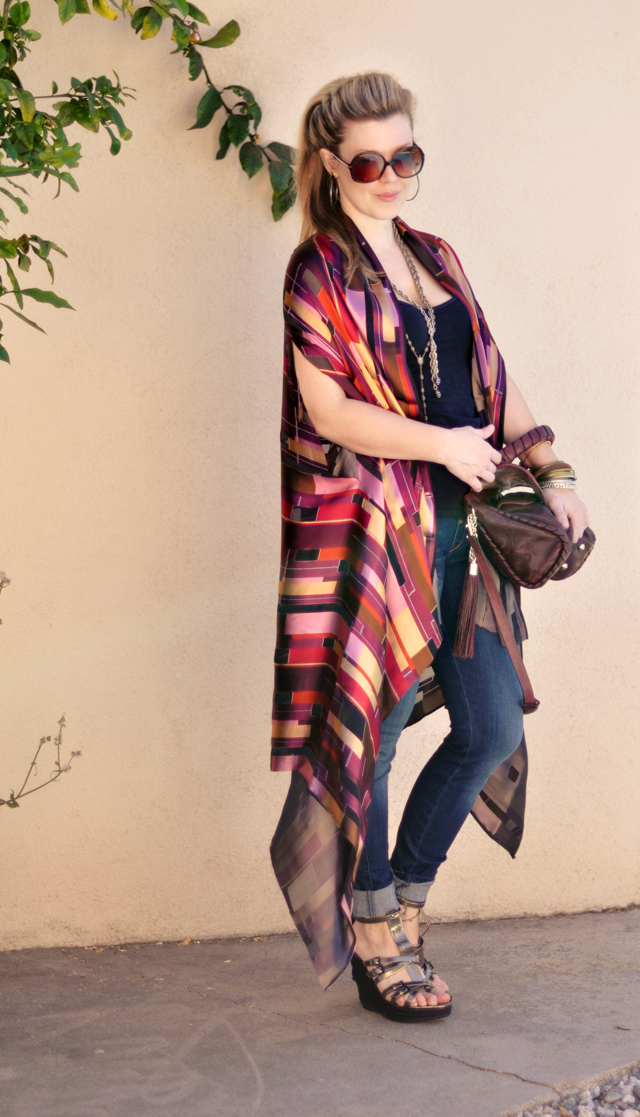 From Scarf to Shawl with 1-2 Yards of Fabric | ...love Maegan
