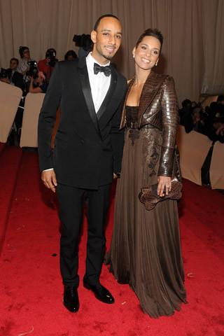 Swizz Beatz, in Givenchy by Riccardo Tisci, with Alicia Keys, in Givenchy Haute Couture by Riccardo Tisci. by The Chic Spot
