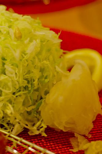 Shredded Cabbage and Pickled Raddish