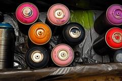 Cans (Kiki Ace) Tags: streetart art colors graffiti paint spraypaint cans supplies
