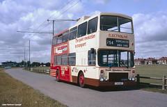 SYPTE Trolleybus 2450 at Doncaster Racecourse, 1986 (Lady Wulfrun) Tags: 1986 1980s trolleybus doncaster southyorkshire deregulation sandtoft electroline pte 2450 doncasterracecourse sypte c45hdt 0181986 sandallbeatroad