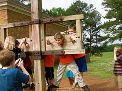 "Pillory ~ American Village Montevallo, Al ""The citizenship Trust"" 2009 May14 (King Kong 911) Tags: trip school village sandra meadow madison ~ lora montevallo pillory americanvillagemontevallo"