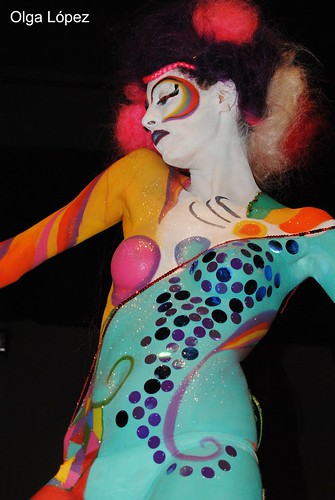 The first photo of body painting. Laboral Tgn.