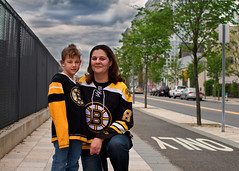 Only Boston Bruins! (bijoyKetan) Tags: cambridge sky sports hockey colors beautiful yellow boston kids clouds children nice day little mit vibrant candid massachusetts daughter mother celebrations fans bostonbruins ketan canonef35mm14lusm mit150 bijoyketan