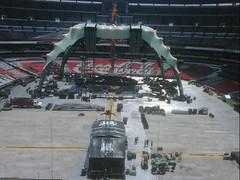 Septimo día de montaje - Estadio Azteca 50