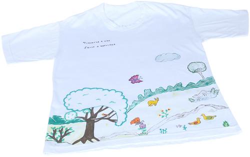 Camiseta Pintada a Mão Salve a Natureza by PARANOARTE