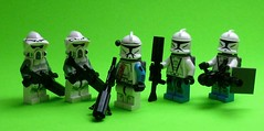 Tango Squad: Preperations for the surface (Commander Hess) Tags: star lego tango wars clone prep gand