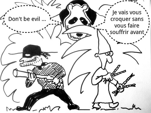 Pandaranol: Black hat et white hat traquent le panda by danielbroche