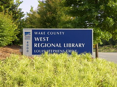 Wake County West Regional Library, Cary NC