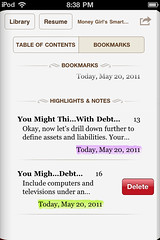 iBooks for iPhone: deleting an annotation