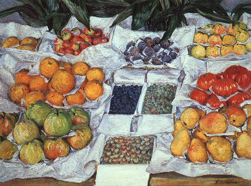 G Caillebotte fruit display