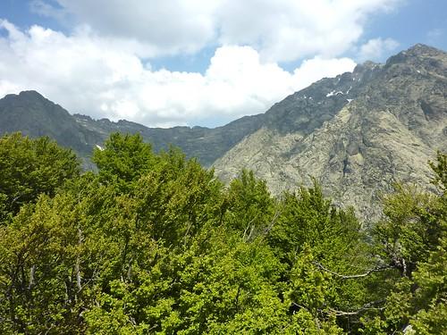 Sur le sommet secondaire avant Punta Del Ceppu : vue vers Bocca Muratellu