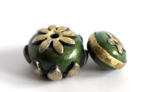 Faux Metal Caps Beads