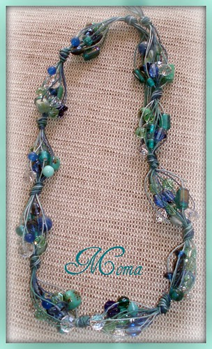 Collar.Verde agua y azules. by marce25