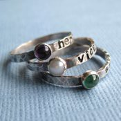 Tiny Personalized Birthstone Ring