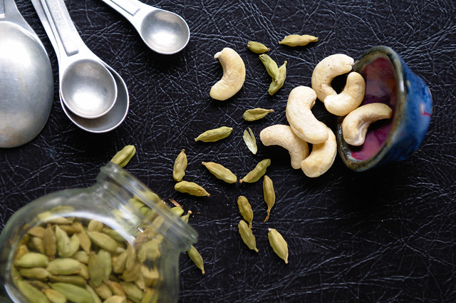 Cashews and cardamom