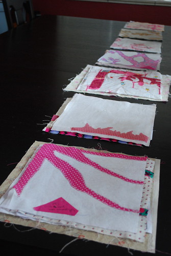 collecting the quilt blocks