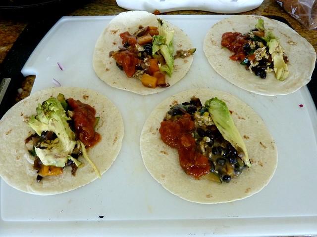 Tasty soft-tacos.